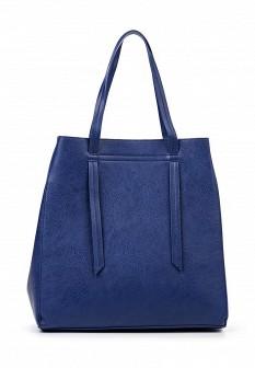 Женская синяя кожаная сумка Pieces
