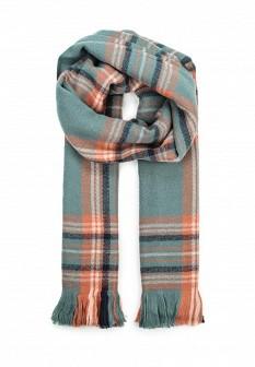 Женский зеленый осенний шарф