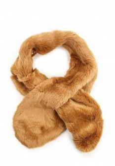 Женский коричневый осенний шарф воротник