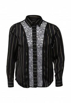 Белая черная итальянская блузка