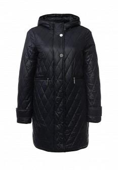 Женская синяя утепленная осенняя куртка
