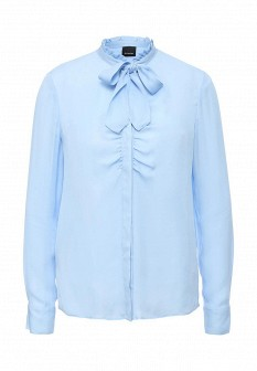 Голубая осенняя блузка PINKO