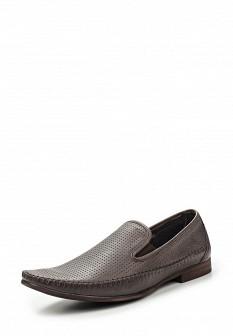 Мужские серые кожаные туфли лоферы