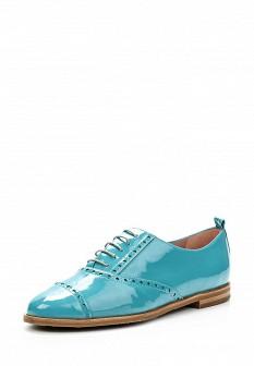 Женские бирюзовые испанские осенние кожаные ботинки