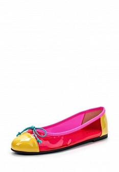Женские желтые розовые испанские лаковые балетки