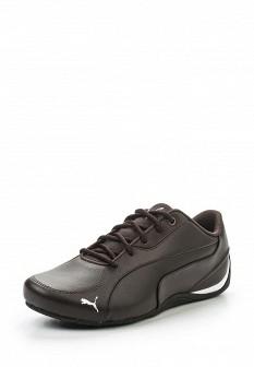 Женские коричневые кожаные кроссовки