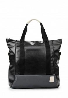 Женская черная спортивная кожаная сумка