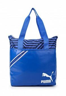Женская синяя спортивная кожаная сумка