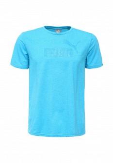 Мужская голубая спортивная футболка