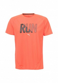 Мужская оранжевая спортивная футболка
