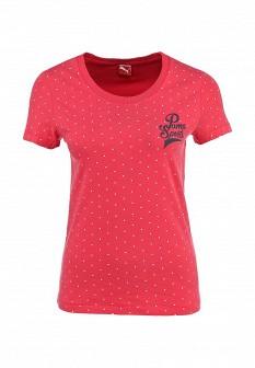 Женская осенняя коралловая футболка