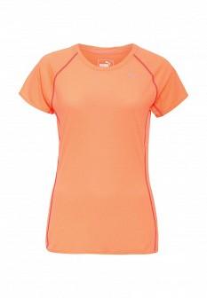 Женская оранжевая спортивная футболка