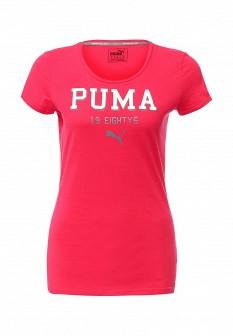Женская розовая спортивная футболка