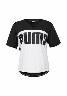 Женская белая черная осенняя спортивная футболка