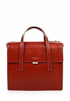 Женская красная осенняя кожаная сумка