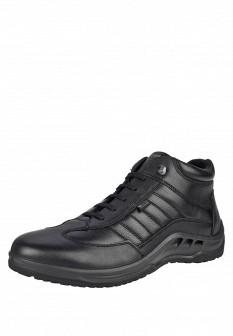 Мужские черные осенние кожаные спортивные ботинки