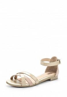 Женские бежевые кожаные сандалии с высоким голенищем