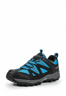 Женские голубые осенние трекинговые ботинки из нубука