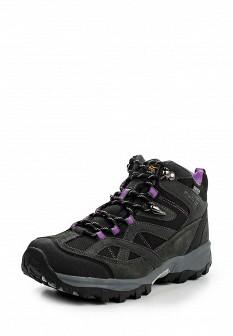 Женские серые осенние трекинговые ботинки