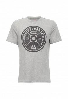 Мужская серая осенняя спортивная футболка