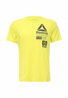 Мужская желтая осенняя спортивная футболка
