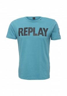Мужская синяя футболка Replay