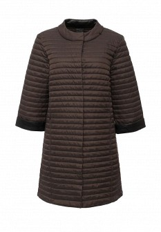 Женская коричневая утепленная осенняя куртка