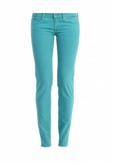 Женские бирюзовые осенние джинсы