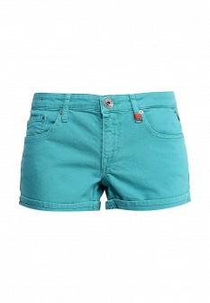 Женские бирюзовые осенние джинсовые шорты