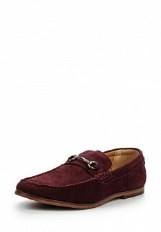 Мужские бордовые осенние туфли лоферы