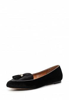Женские черные осенние текстильные туфли лоферы