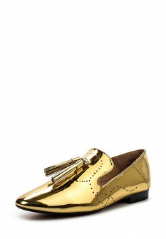 Женские осенние кожаные лаковые туфли лоферы