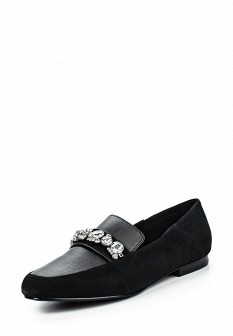 Женские черные кожаные туфли лоферы