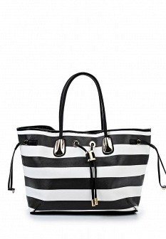 Женская белая черная осенняя кожаная сумка
