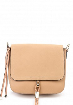Женская бежевая кожаная сумка