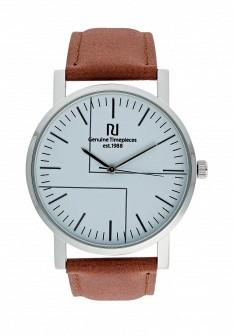 Мужские коричневые осенние серебряные часы