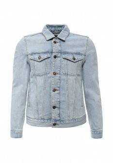 Мужская голубая осенняя джинсовая куртка