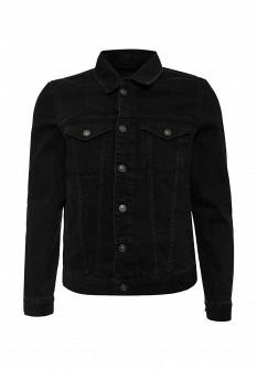 Мужская черная осенняя джинсовая куртка