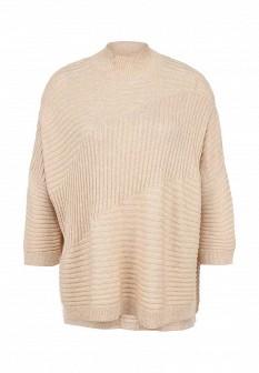 Женский бежевый осенний свитер