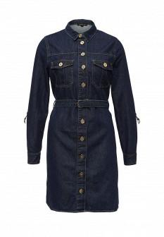 Синее джинсовое платье River Island