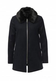 Женское синее осеннее пальто