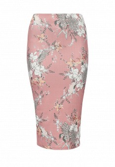 Розовая осенняя юбка River Island