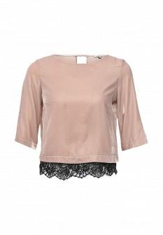 Розовая осенняя блузка