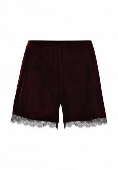 Женские бордовые осенние шорты