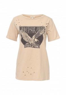 Женская бежевая футболка River Island