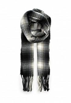Мужской белый черный осенний шарф