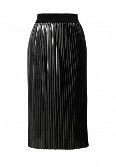 Итальянская осенняя серебряная юбка
