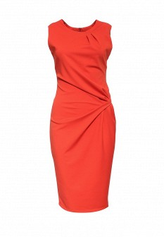 Оранжевое итальянское платье