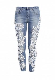 Женские голубые итальянские джинсы