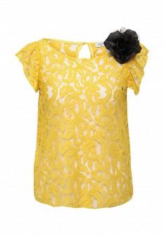 Желтая итальянская блузка